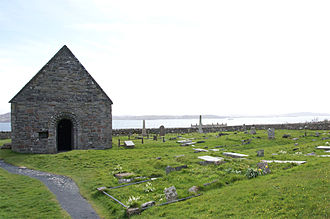 Clan Macdonald of Clanranald - Relig Odhráin: the cemetery surrounding St Oran's Chapel on Iona. It was the burial grounds of the earliest chiefs of Clanranald.