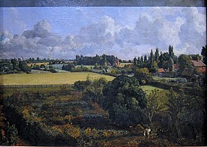 Golding Constable's Vegetable Garden - Golding Constable's Vegetable Garden, painted 1815