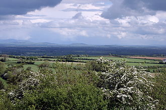 County Kildare - Looking east across the broad plains of South Kildare to the distant Wicklow Hills.
