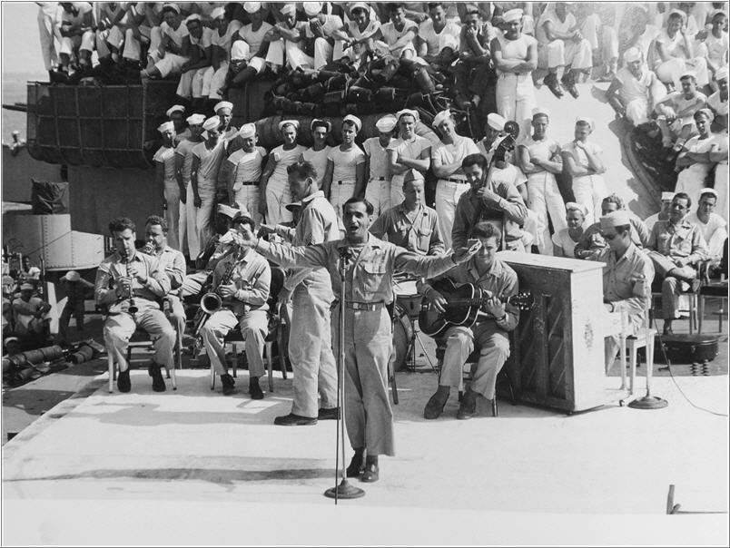 Irving Berlin aboard the USS Arkansas, 944