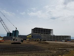 Toyota Music Factory - Toyota Music Factory under construction in May 2017