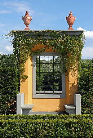 Landscape architect - An example of landscape architecture. (The Italian Garden, Gardens of the world, Berlin-Marzahn, Germany)