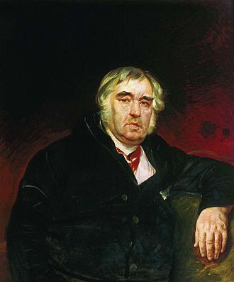 Ivan Krylov - Portrait of Krylov by Karl Briullov, 1839