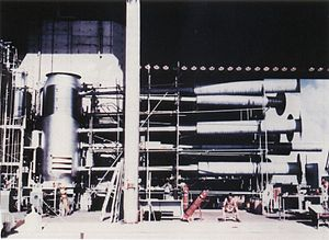"John Archibald Wheeler - The ""Sausage"" device of Ivy Mike nuclear test on Enewetak Atoll. The Sausage was the first true hydrogen bomb ever tested."