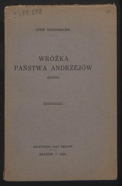 File:Józef Birkenmajer - Wróżka państwa Andrzejów.djvu