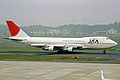 JA8129 2 B747-246B JAA Japan Asia Aws NRT 22MAY03 (8452051341).jpg