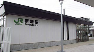 railway station in Shinchi, Soma district, Fukushima Prefecture, Japan