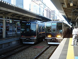 Ōsaka Station - Commuter trains at Osaka Station