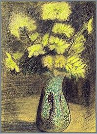"""Jean Lebedeff, """"Bodegón de flores"""", 1908"""