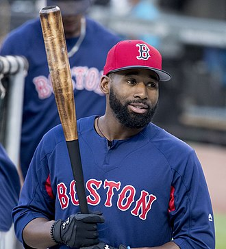 Jackie Bradley Jr. - Bradley with the Red Sox in 2017