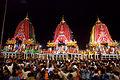 Jagannath 3 - Ratha Yatra - All chariots.jpg
