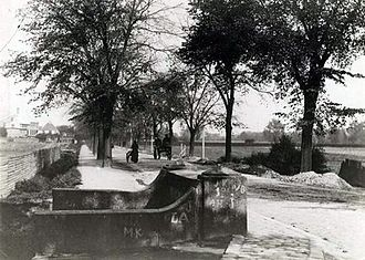 Jagtvej - Jagtvej viewed from the same bridge in about 1880