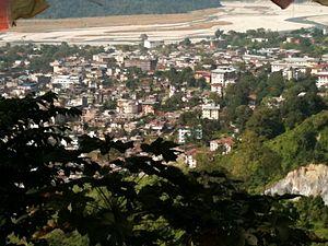 Jaigaon - Jaigaon from the kharbandi (Bhutan)