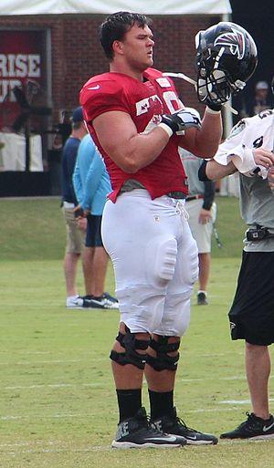 Jake Matthews - Matthews during Falcons training camp in 2014