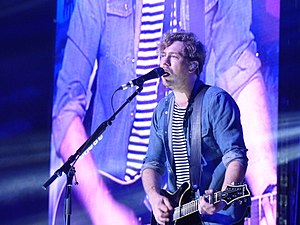 James Bourne - Bourne performing with Busted at the Manchester Arena, 2016