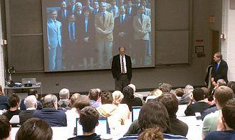 James Duderstadt - Duderstadt giving a presentation at the University of Michigan, 2012