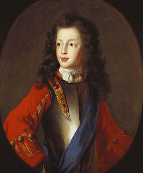 James Francis Edward, about 1703, portrait in the Royal Collection attributed to Alexis Simon Belle James Francis Edward Stuart c. 1703 attributed to Alexis Simon Belle.jpg