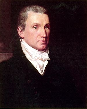 Era of Good Feelings - President James Monroe, portrait by John Vanderlyn, 1816