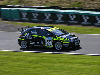 James Thompson (racing driver) - Thompson competing in the fourth event of the 2009 British Touring Car Championship season at Oulton Park.