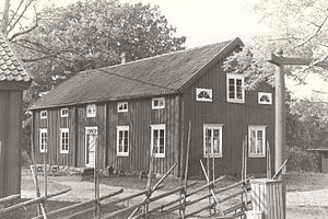 Sund, Åland - Image: Jan Karlsgården i Sund, våren 1991