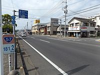 Japan National Route 57 and 251 near Shimabara port.jpg
