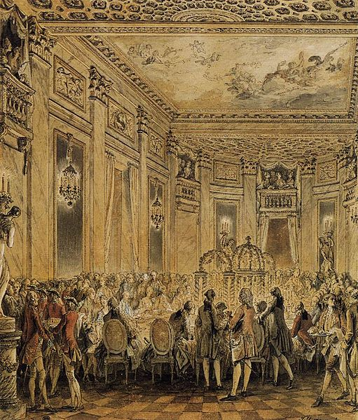 File:Jean-Michel Moreau - Banquet Given in the Presence of the King - WGA16206.jpg