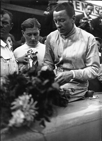 Jean-Pierre Wimille - Jean-Pierre Wimille after winning the 1936 Grand Prix de Deauville