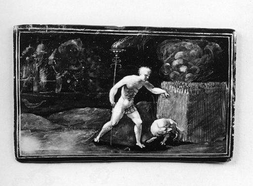 Jean Pénicaud II - Samson Firing the Grain of the Philistines - Walters 44342