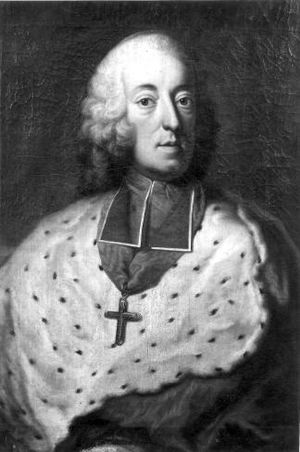 Paul-Joseph Delcloche - Black-and-white reproduction of the portrait of John Theodore of Bavaria from 1748