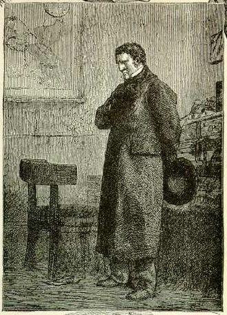 Jean Valjean - Jean Valjean disguised as Monsieur Madeleine. Illustration by Gustave Brion.