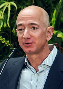 Jeff Bezos at Amazon Spheres Grand Opening in Seattle - 2018 (39074799225) (cropped).jpg