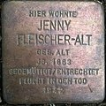 Jenny Fleischer-Alt Stolperstein in Weimar, Thüringen.jpg