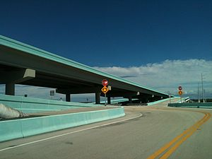 Jewfish Creek Bridge - Image: Jewfish Creek exit ramp