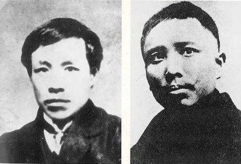 蒋翊武(左)と孫武(右)