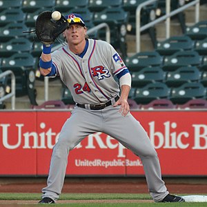 Jim Adduci (baseball, born 1985) - Adduci playing for the Round Rock Express, triple-A affiliates of the Texas Rangers, in 2013