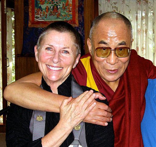 Джоан Халифакс и Далай-лама XIV