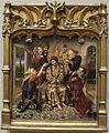 Joan reixac, scomparto di predella con cristo coronato di spine, 1454.JPG