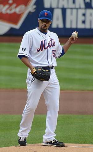 Johan Santana - Santana with the Mets in 2012