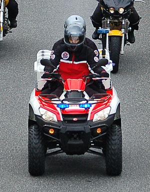 Johanniter-Unfall-Hilfe - Johanniter paramedics on a quad bike