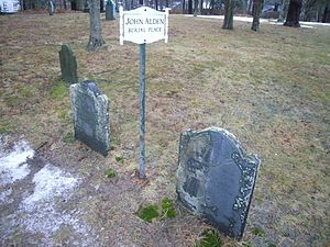 John Alden - Myles Standish Burial Ground, the final resting place of John and Priscilla Alden