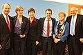 John B. Emerson, Ambassador Samantha Power, Melissa Rogers, Ambassador Daniel Baer, Dr. Deborah Lipstadt and Ira Forman, 2014.jpg