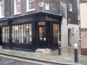 John Betjeman - Betjeman's house on Cloth Fair in the City of London
