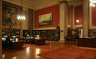 John Carter Brown Library - Interior of the MacMillan Reading Room at the John Carter Brown Library