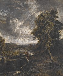 John Constable: East Bergholt - Lock on Stour