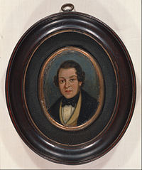 Miniature: Portrait of Abram Constable, brother of the artist