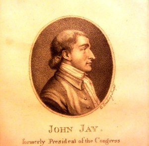 Jay Heritage Center - Early portrait of John Jay based on an engraving by Pierre Eugene du Simitiere – JHC Collection