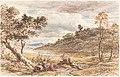 John Linnell, Travelers Resting by a Fallen Tree, 1852, NGA 69400.jpg