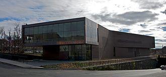 John W. Olver Transit Center - View of Olver Transit Center from Olive Street