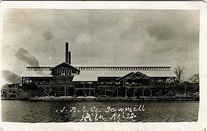 Kiln, Mississippi - Jourdan River Lumber Company sawmill