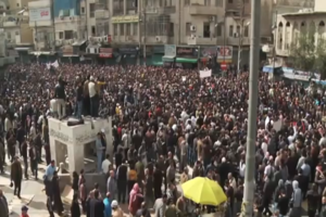 2011–12 Jordanian protests - A mass protest in Amman, Jordan, November 2012, over price hikes